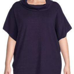 ELOQUII Elements Women's Plus Size Mock Neck Tunic Sweater   Walmart (US)