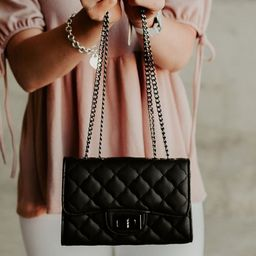 Bellamy Quilted Purse - Black | Mindy Mae's Market