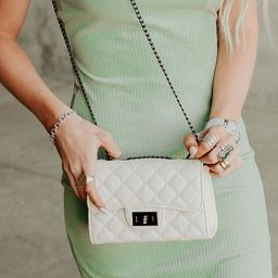 Bellamy Quilted Purse - White | Mindy Mae's Market