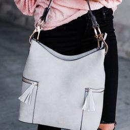 Rochelle Hobo Bag - Grey | Mindy Mae's Market