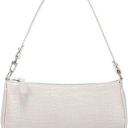 Shoulder Bags for Women, Retro Classic Tote HandBag Crocodile Pattern Clutch Purse with Zipper Cl... | Amazon (US)