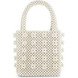 Shrimps Cream Antonia Faux Pearl Beaded Tote Bag | Selfridges