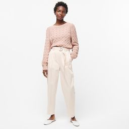 Relaxed-fit cable-knit crewneck sweater   J.Crew US