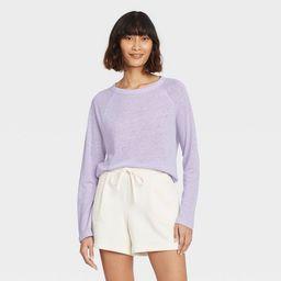 Women's Long Sleeve Linen T-Shirt - A New Day™   Target