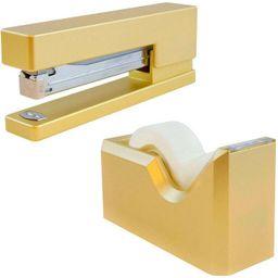 JAM Paper Stapler & Tape Dispenser Desk Set Gold | Target