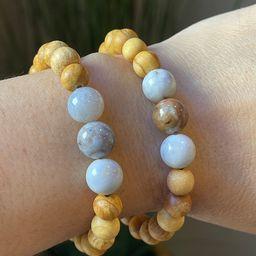 Peruvian Palo Santo and Ocean Jasper Gemstone Bracelet | Etsy | Etsy (US)