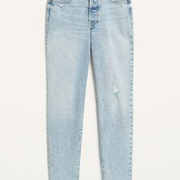 High-Waisted O.G. Straight Button-Fly Cut-Off Jeans for Women   Old Navy (US)