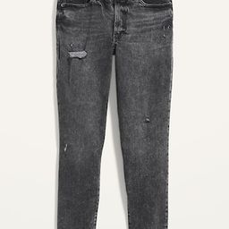 High-Waisted O.G. Straight Ripped Black Ankle Jeans for Women   Old Navy (US)