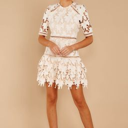Oblivious Beauty Ivory Lace Dress | Red Dress