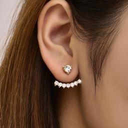 Rhinestone Decor Earring Jackets | SHEIN