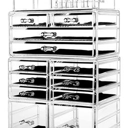 HBlife Makeup Organizer Acrylic Cosmetic Storage Drawers and Jewelry Display Box with 12 Drawers,...   Amazon (US)