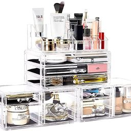 DreamGenius Makeup Organizer 4 Pieces Acrylic Makeup Storage Organizer Box with 9 Drawers for Lip...   Amazon (US)
