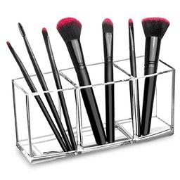 hblife Clear Makeup Brush Holder Organizer, 3 Slot Acrylic Cosmetics Brushes Storage Solution,Pat...   Amazon (US)