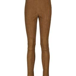 High-rise suede skinny pants   Mytheresa (US)