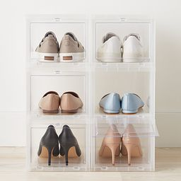 Small Drop-Front Shoe Box Case of 6 | The Container Store