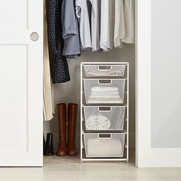 Elfa White Mesh Narrow Start-A-Stack | The Container Store