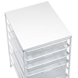 Elfa Classic Narrow New Melamine Top White | The Container Store