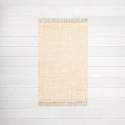Bleached Jute Fringe Rug - Hearth & Hand™ with Magnolia   Target