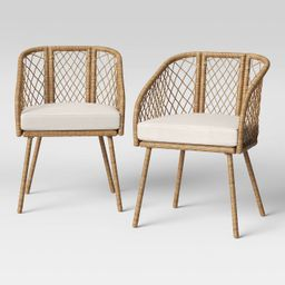 Ayden 2pk Barrel Patio Dining Chair - Threshold™   Target