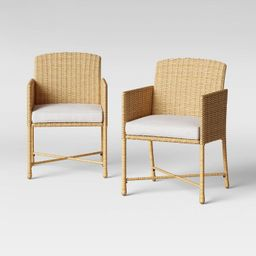 Eliot 2pk Closed Weave Patio Dining Chair - Threshold™   Target