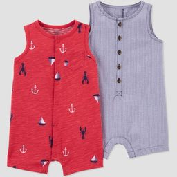 Baby Boys' Summer Print Romper - Just One You® made by carter's Navy | Target