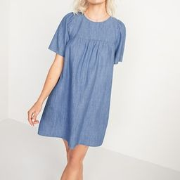 Chambray Tie-Back Swing Dress for Women   Old Navy (US)