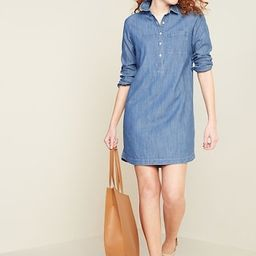 Chambray Shift Shirt Dress for Women   Old Navy (US)
