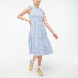 Tiered midi ruffle dress   J.Crew Factory