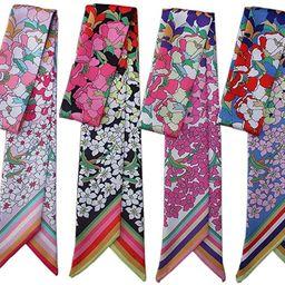 Uainhrt 4pcs Polychrome Small Flower Bag Handbag Handle Ribbon Scarf Hair Head Band Neck Scarf Ne...   Amazon (US)