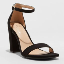 Women's Ema High Block Heeled Square Toe Pumps - A New Day™ | Target