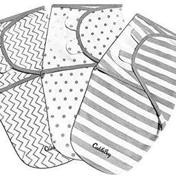 Cuddlebug Adjustable Baby Swaddle Blanket & Wrap (Spots & Stripes), Pack of 3 (Small/Medium 0-3 M... | Amazon (US)