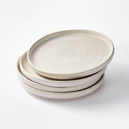 "10.6"" 4pk Stoneware Glazed Dinner Plates Cream - Threshold™ designed with Studio McGee   Target"
