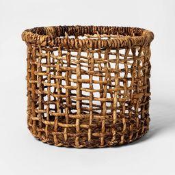 Banana Bark Round Open Weave Basket Natural - Opalhouse™   Target