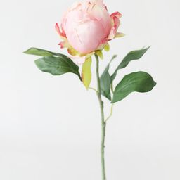 """Artificial Flower Peony Bud in Pink - 18"""" Tall 