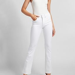 Mid Rise White Bootcut Jeans | Express
