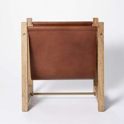 Wood and Leather Magazine Holder Natural - Threshold™ designed with Studio McGee | Target