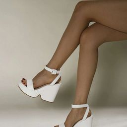 Two Part Wedge Sandals   SHEIN