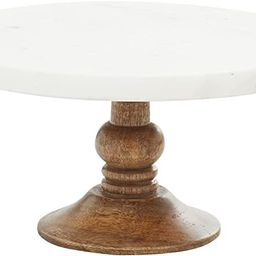 Deco 79 94520 Mango Wood and Marble Cake Stand, 10x10x5, Brown/White | Amazon (US)