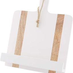 "Mud Pie White Wood Cookbook Holder, 11 1/4"" x 15 1/2"" | Amazon (US)"