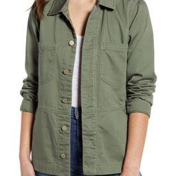 Drop Shoulder Flounce Cotton Jacket   Nordstrom   Nordstrom