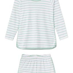Pima Long-Short Set in Spring Green | LAKE Pajamas