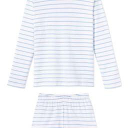 Pima Long-Short Weekend Set in Cerulean | LAKE Pajamas