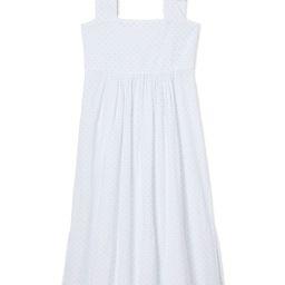 Lolly Lounge Dress in Powder Swiss Dot | LAKE Pajamas