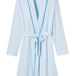 Pima Robe in Atlantic | LAKE Pajamas