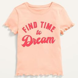Short-Sleeve Lettuce-Edged Graphic Tee for Girls | Old Navy (US)