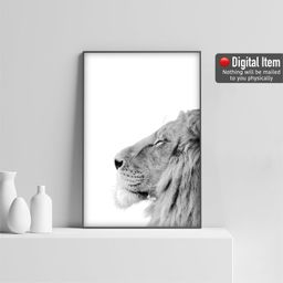 Lion Breath Photography Lion Print Black and White Poster | Etsy | Etsy (US)