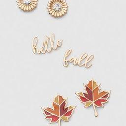Hello Fall Earrings 3-Pack | Lane Bryant (US)