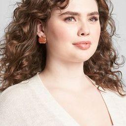 Pumpkin Sparkle Statement Earrings | Lane Bryant (US)