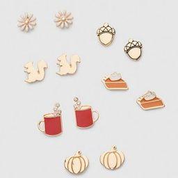 Fall Icon Earrings 6-Pack | Lane Bryant (US)