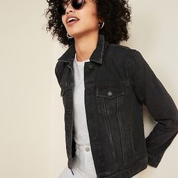 Distressed Black Jean Jacket for Women   Old Navy (US)